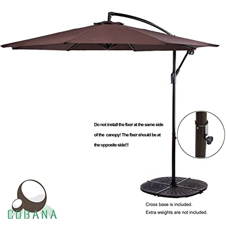 Amazon.Com : Cobana 10' Cantilever Freestanding Patio Umbrella