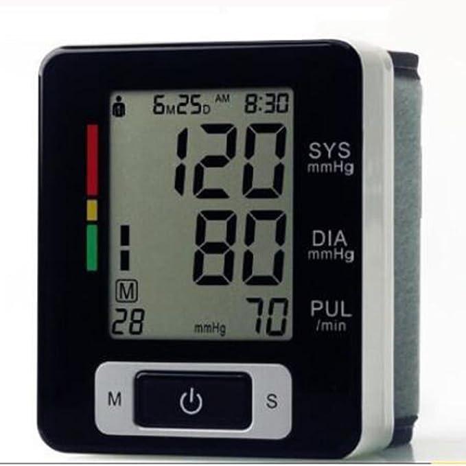 Tensiómetro de Muñeca Automático, CK-W133 2 modos de usuario /Prueba de frecuencia cardíaca para uso en el hogar: Amazon.es: Deportes y aire libre