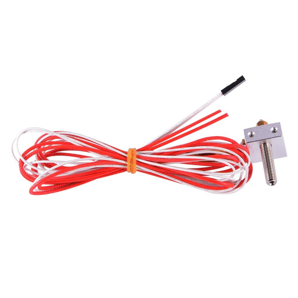 XCSOURCE/® MK8 Extrusora 1.75mm 0.4mm garganta de la tobera Kit Filamento Bloque calentador termistor HotEnd para impresora 3d TE599