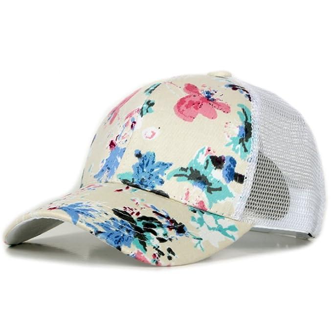 WeiMay mujeres sombrero de sol hermosa flor de impresión gorra de béisbol para deportes al aire libre y ocio urbano: Amazon.es: Ropa y accesorios