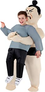 Morph Costumes - Sumo Wrestler Kids Inflatable Costume - Great Illusion Fancy Dress Outfit One size fits most Children upto 5ft