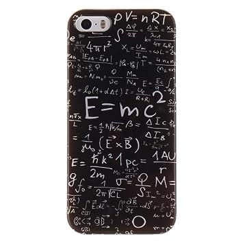 iPhone 5S Funda, iPhone SE Carcasa, Hamyi Suave TPU Gel Silicona Parachoques para Apple iPhone 5 e iPhone 5S e iPhone SE (Fórmula)