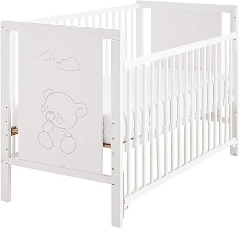 Cuna bebé Baos 120x60 con lateral abatible y 5 alturas de ...