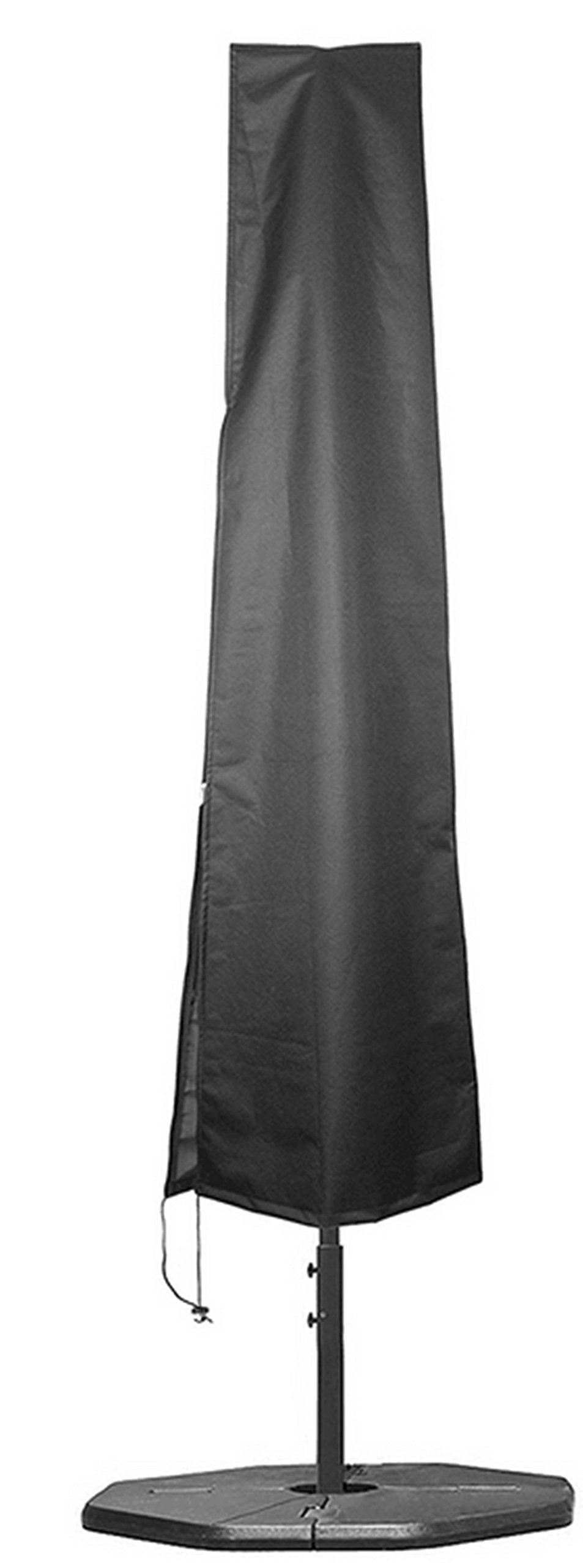 Hentex Outdoor Patio Umbrella Cover, PU Coating Eco Durable Waterproof, Soft Liner, Soft Liner, Drawstring with 2 Stoppers,Sewn-in Fibre Glass Rod for Easy Use,Parasol Canopy Protector (23.5''W×75''H)