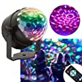 KOOT Disco Lights,Sound Activated Christmas Lights Party Lights LED Disco Ball 7 Colors Dance Lights Strobe Lights for Dance Karaoke DJ Bar Wedding Show Holiday Party(with Remote)