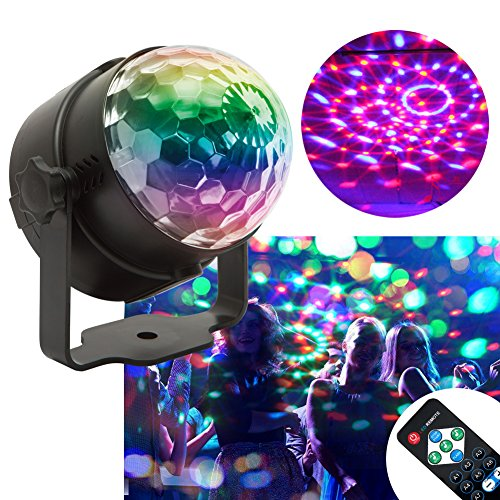 KOOT Disco Light, LED Party Lights Halloween Strobe Light 7 Colors Sound Activated Disco ball for Christmas Halloween Party Dance Karaoke Party DJ Bar Wedding Show Holiday Party(with (Halloween Themed Songs For Toddlers)