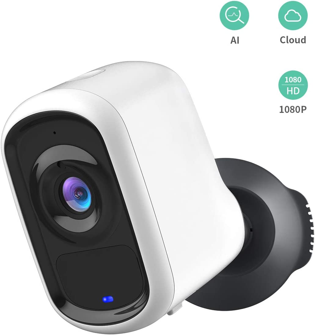 Outdoor Wireless Security Camera, XTU 1080P Smart Home Security Camera Built-in 6400mah Rechargeable Battery with AI Analysis, Motion Detection,Dual Audio,Night Vision,Wheatherproof, Cloud/SD Storage