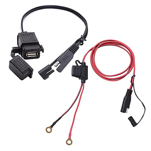 4 opinioni per MICTUNING Cavo di SAE a USB 2.1A Impermeabile + Caricabatteria Adattatore SAE di