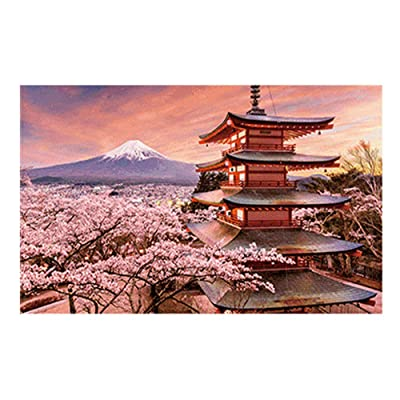 Sdoveb 500 Piece Adult Children Jigsaw Puzzle - Manor/Dawn/Forest Hut Underwater World/Violin Recital/Snow Mountain Cherry Blossoms Pagoda - Landscape Puzzle Puzzle Toy (E): Arts, Crafts & Sewing