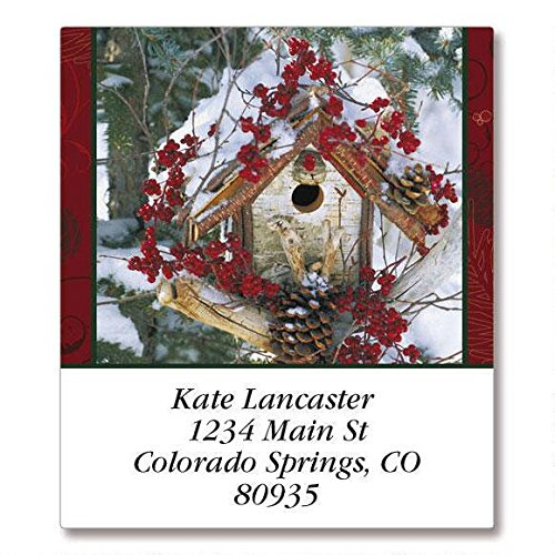(Winter Blessings Select Address Labels - Self-Adhesive, Flat-Sheet Labels, 1 1/2 x 1 3/4 Set of 144)