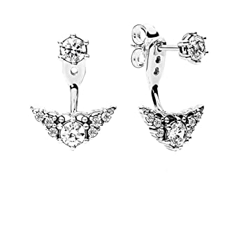 e0f5bfd5f Amazon.com: Pandora Sterling Silver Fairytale Tiara Stud Earrings ...