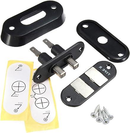 WINOMO Interruptor de contacto de puerta corredera negra para sistema de cierre centralizado alarma de coche para VW T4 FORD: Amazon.es: Coche y moto