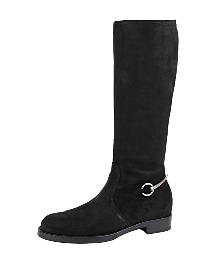 b99f847d89e5d Amazon.com  Gucci Women s Dark Brown Horsebit Flat Suede Tall Knee Boots  354004 (37.5 G   7.5 US)  Shoes