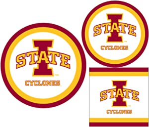 Iowa State Cyclones Party Supplies - Bundle Includes Paper Plates and Napkins for 10 People