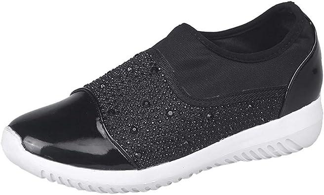 Zapatillas para Mujer,Mujeres al Aire Libre Estiramiento Tejido Zapatos Casuales Suelas cómodas Casual Running Zapatos Deportivos Zapatillas Respirable Mocasines Deportes Mujer Sneaker Plataforma: Amazon.es: Zapatos y complementos