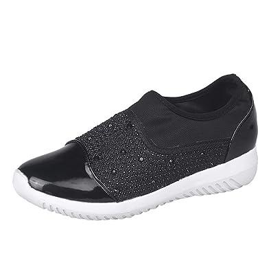 Zapatillas para Mujer,Mujeres al Aire Libre Estiramiento Tejido Zapatos Casuales Suelas cómodas Casual Running Zapatos Deportivos Zapatillas Respirable ...