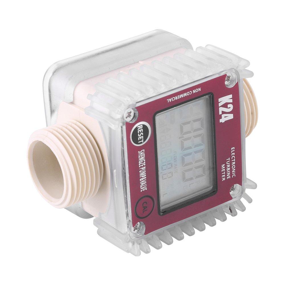 1 pc K24 Caudalímetro de turbina Digital, medidor de caudal con turbina para medir agua combustible Diesel líquido productos químicos: Amazon.es: Industria, ...