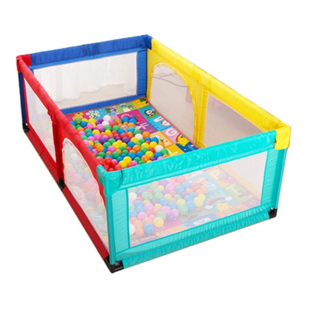 最安値に挑戦! ベビープレイペン 赤ちゃんの遊び場子供のヘビーデューティゲームのフェンス (色、幼児の安全性遊びペン再生メスクロールマットと100のボール、120×190×70センチメートル (色 色) : 色) 色 色 B07LG8JB4X, ユウチョウ:b71c401e --- palmistry.woxpedia.com