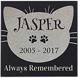 Cat Face - Always Remembered Cat Memorial Personalized Grave Stone For Cat | Granite