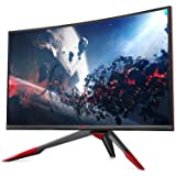 Viotek 144Hz GN32LD QHD 32 inch Curved Gaming Monitor 2560x1440 Widescreen; Adjustable Stand, 1440P Resolution & FreeSync