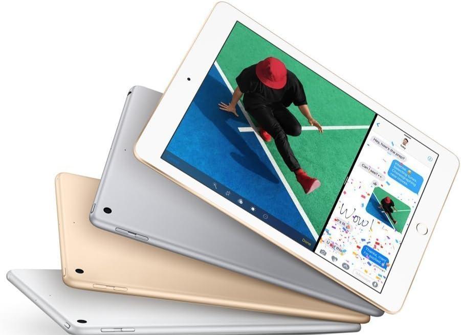 Apple iPad with WiFi, 32GB, Silver (2017 Model) (Renewed)