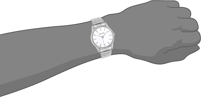 Ferretti Mixe | Montre Style Classique avec Bracelet Extensible & Boitier 38 mm | FT163 Argent