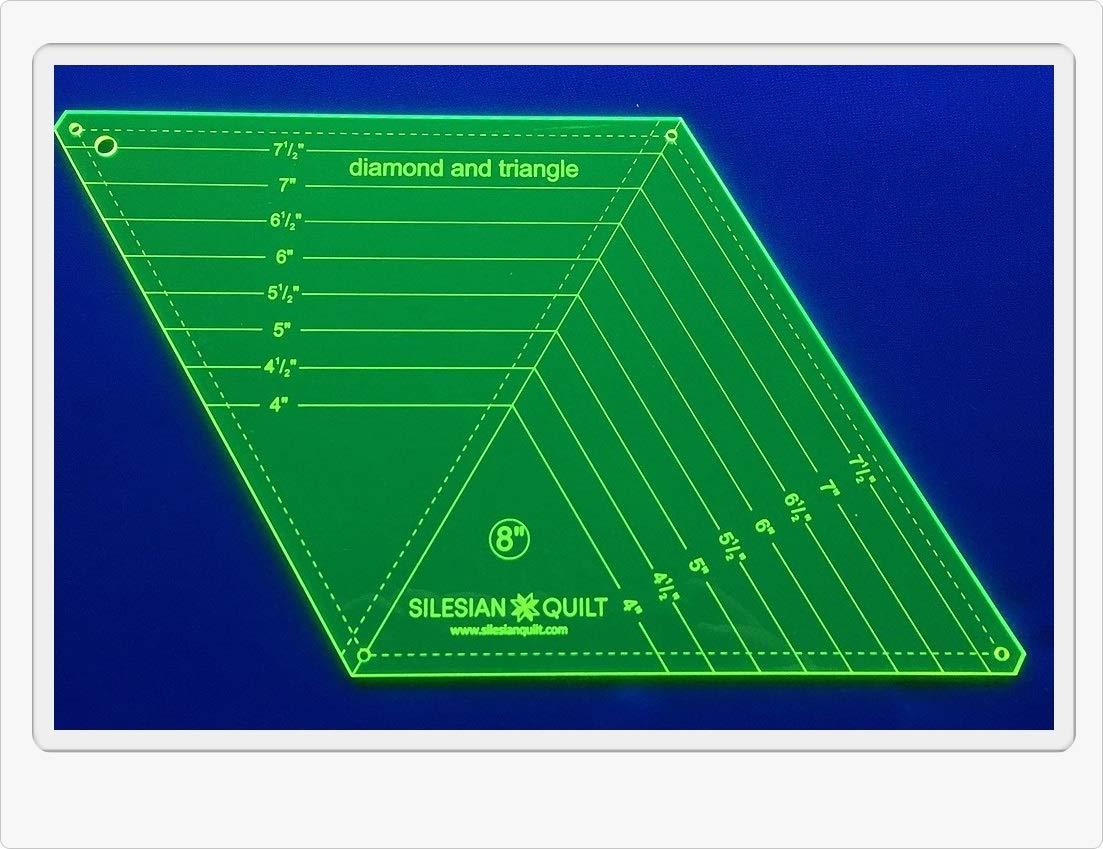 Plantilla para patchwork y Diamantes tri/ángulo 8 pulgadas