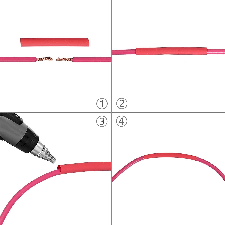 Proster Kit de Sonde 800pcs Tube Thermo-R/étractable Longueur 2:1 45mm-Ensemble de Tubes Thermor/étractables 5 Couleurs Thermor/étractable Assortis 12 Diam/ètres 1-13mm pour C/âbles de C/âbles /Électriques