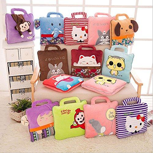 BSTcentelha 2 In 1 Cute Cartoon Plush Stuffed Animal Motifs Throw Pillow Blanket Set (Style E) by BSTcentelha (Image #4)