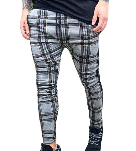 a9ce0f2a8 Huateng Old Moda Mens Pantalones Pantalones Clásicos Color Rojo Plaid Largo para  Hombres  Amazon.es  Ropa y accesorios
