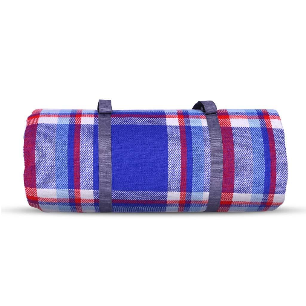 ピクニック毛布 ピクニックマット、裏地付き防水と防湿の屋外ビーチブランケットラグマット  C B07RZ41CYM