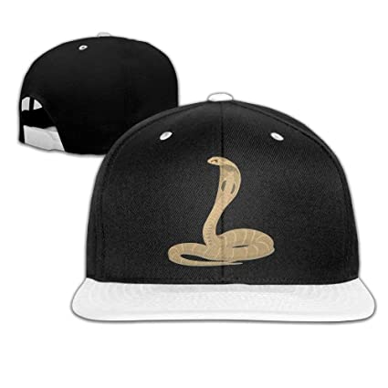 Amazon.com  WHROOER Unisex King Cobra Snake Cotton Snapback Hip Hop Flat  Tongue Hats Adjustable Baseball Caps For Outdoor Sport  Home   Kitchen 4b3dfd4199d