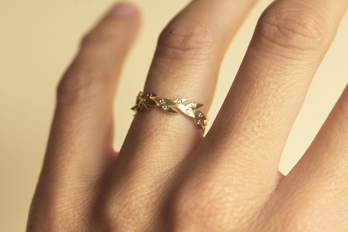 Amazon: Vine Wedding Band, Vine Wedding Ring, Diamond Vine Band,  Diamond Eternity Ring, Gold Leaf Band, Diamond Leaf Band, Nature Inspired  Ring: