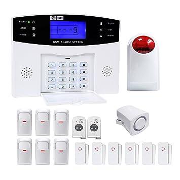 amgaze inalámbrica hogar y negocio de DIY sistema de alarma ...