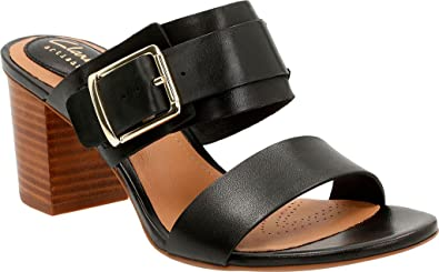 ebde14cfdbb209 Clarks Women s Ralene Rose Black Leather Sandal  Amazon.co.uk  Shoes ...