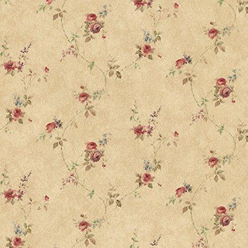 Manhattan Comfort NWPR33807 Tacoma Vinyl Rose Floral Trail Wallpaper, -