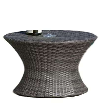 Peachy Amazon Com Ats Round Wicker Side Table Patio Table Outdoor Download Free Architecture Designs Photstoregrimeyleaguecom