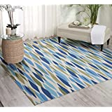 Waverly Sun N  Shade Bits & Pieces Seaglass Area Rug (6 6 Square) by Nourison