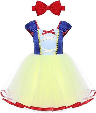 Freebily Disfraz Vestido de Princesa Fiesta para Bebé Niña (12 ...
