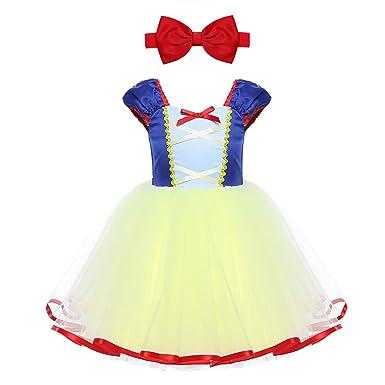2019 original encanto de costo buscar el más nuevo Freebily Disfraz Vestido de Princesa Fiesta para Bebé Niña (12 Meses-5  Años) con Cinta de la Cabeza Disfraz Infantil Carnaval Niña