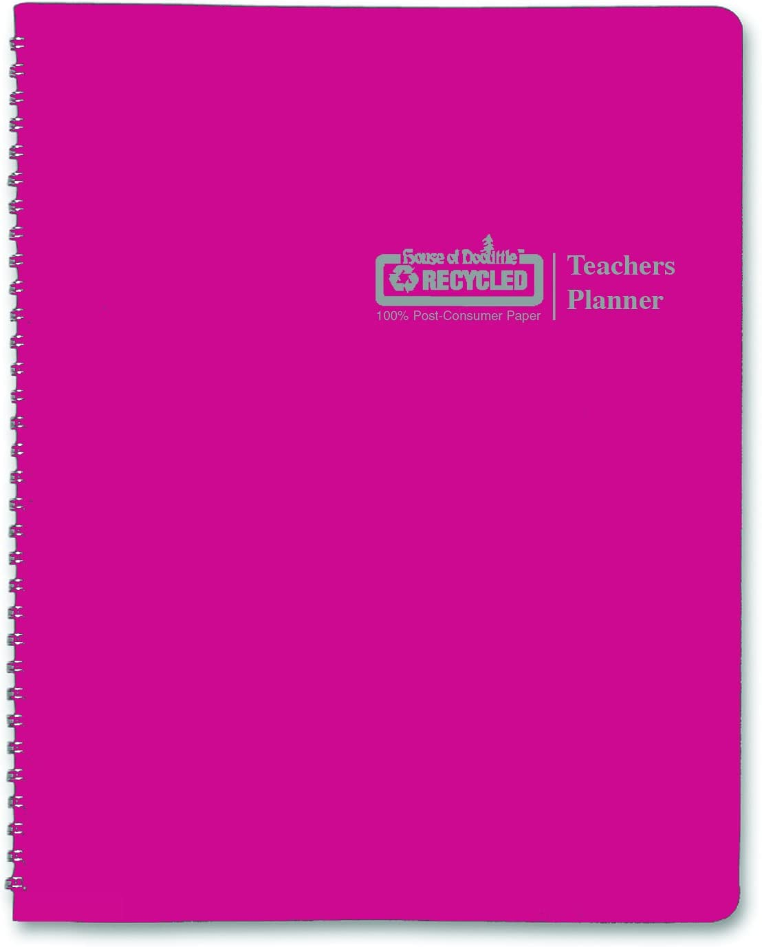 House of Doolittle Teachers Planner, Pink Leatherette Cover, 45 Weeks, 7 Periods, Seating Chart, Records, 8.5 x 11 Inch (HOD50905) : Office Products