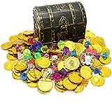 Kids Pirate Treasure Chest Toy Box Antique Color