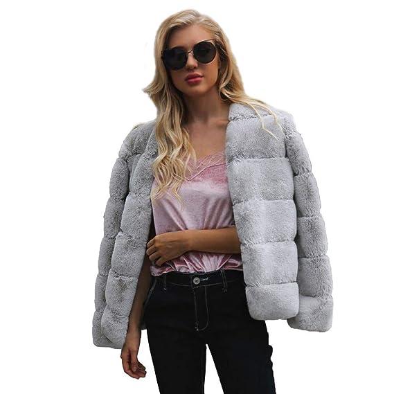 ... para Mujer Invierno Abrigo Casual Chaqueta de Lana Capa Jacket Abrigo Corto Fleece Warmer Abajo Chaqueta emulational Abrigo de Piel Abrigo de Pelo para ...