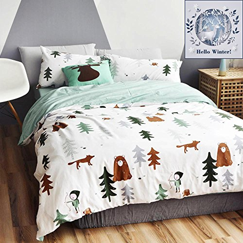 t Theme Cotton US Twin Kids Bedding Collections(1 Duvet Cover 2 Pillow Shams) White Bedding Cover Sets With 4 Corner Ties Wholesale (Boy Bedding)