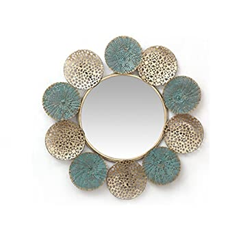 Amazon Com Wall Mirror For Bathroom Creativity Iron Decoration Mirror Hollow Pattern Background Wall Ornaments W 610 H 584 D 32mm Beauty