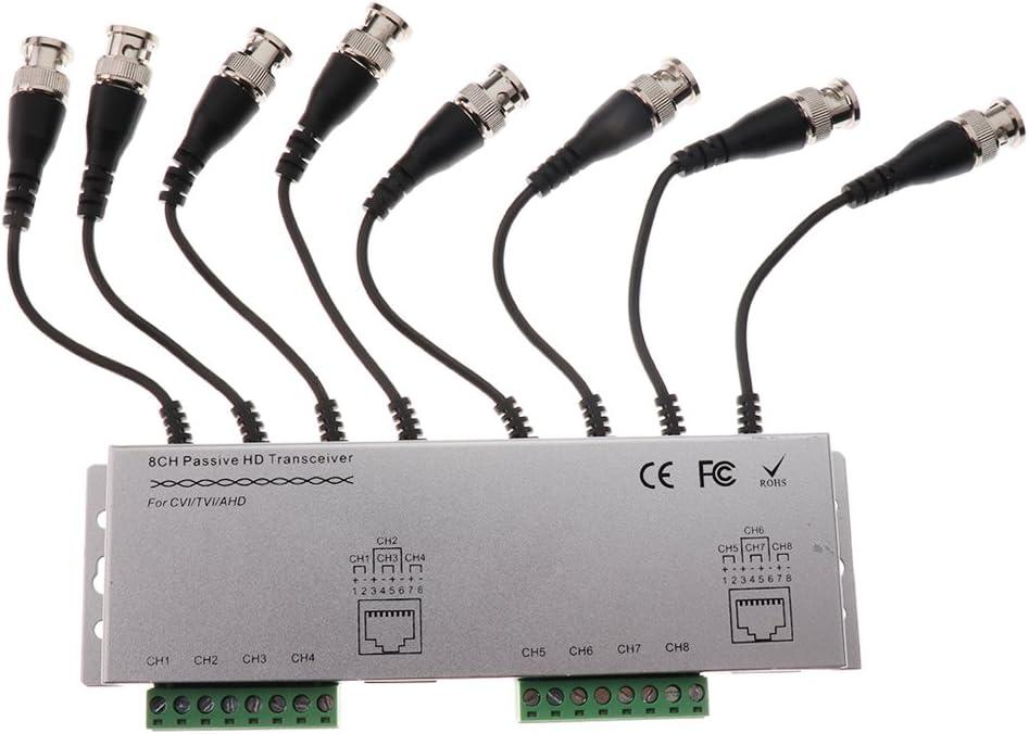 Almencla - Transceptor pasivo de vídeo (8 Canales, BNC, UTP, RJ45): Amazon.es: Electrónica