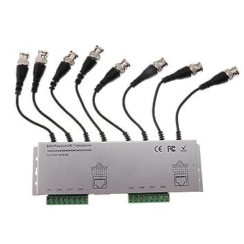 8ch Pasivo Balun Vídeo Balun Transceptor BNC A UTP RJ45 Cable Coaxial