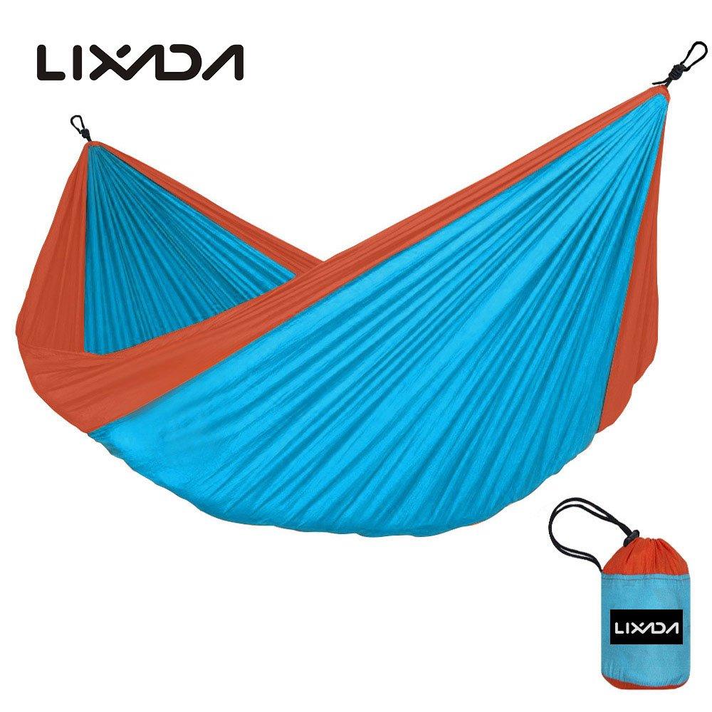 Vdk blau + Orange Outdoor Hängematte 2 Personen Garten Camping Möbel Kugellager 200 kg Hängematte Travel Kits Hangmat 280  150 cm