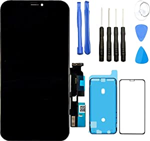 Kracked Screens: Phone Screen Replacement - LCD Display and Touch Screen - Compatible with iPhone XR - Phone Screen Repair Tools Set, Adhesive and Screen Protector Included