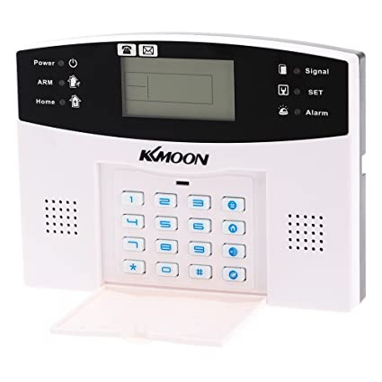 KKmoon Alarma Inalámbrica GSM SMS Antirrobo Sistema de Seguridad Llamada de Móvil 433MHZ con Sensor Detector